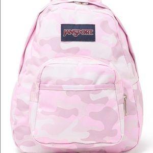 Jansport Mini Backpack Pink Camo